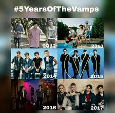 5 Years of The Vamps! Been a loyal fan since 2014❤️