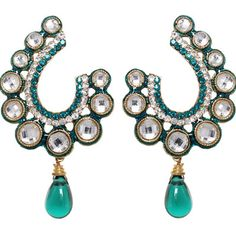 Shop Sea Blue Enamel Work Earrings 42385 online from huge collection of indian ethnic jewellery at m. Bridal Earrings, Bridal Jewelry, Wedding Chaniya Choli, Ethnic Jewelry, Jewellery, Designer Earrings, Turquoise Necklace, Enamel, Blue