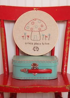 Toadstool Home Embroidery Pattern  (have it)