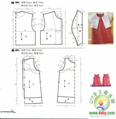top & dress for girls Baby Sewing Projects, Sewing Patterns For Kids, Dress Sewing Patterns, Sewing For Kids, Clothing Patterns, Sewing Clothes, Diy Clothes, Cute Baby Dresses, Moda Kids