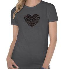 Leopard Print Heart T Shirt