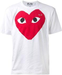 Comme des Garcons heart t-shirt on shopstyle.com