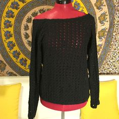 American Apparel black jumper Great for spring summer .. Holes make it breezy American Apparel Tops