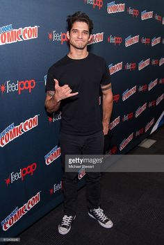 Actor Tyler Posey attends the MTV Teen Wolf Final Farewell press room during 2016 New York Comic Con at the Jacob Javitz Center on October 8, 2016 in New York City.
