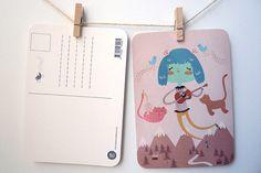 Estas postales sin duda son un recuerdo buenísimo #Idea #DIY