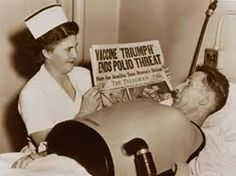 Polio peaked in the 1950's and some 33,000 Americans died or became crippled.
