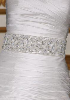 wide beaded bridal dress sash.