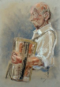Harmonika 2Nćste Pastelkridt pĺ tonet papir
