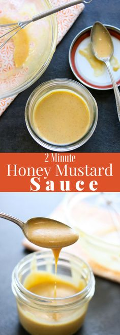 2 Minute Honey Mustard Sauce is so easy to make and delicious to eat! Just whisk together mayo, mustard, honey, garlic powder and paprika. Sprinkle in a tiny pinch of salt and you are ready to dip awa Mustard Sauce For Chicken, Dipping Sauces For Chicken, Honey Mustard Sauce, Grilled Turkey, Grilled Chicken, Grilled Ham, Ham Sauce, Cheese Sauce, Chicken Tenders
