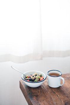 breakfast ft. falcon enamelware #luxuryonLux