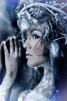 frosty woman #snow queen