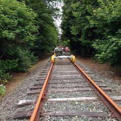 Take an unforgettable ride along the rails of an inactive train track on the Oregon Coast. Oregon Vacation, Oregon Road Trip, Oregon Travel, Vacation Places, Vacation Spots, Travel Usa, Places To Travel, Places To See, Road Trips