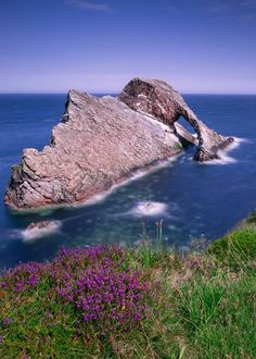 Bowfiddle Rock in Portknockie, Moray, Scotland