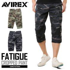 AVIREX アビレックス 6166115 FATIGUE CROPPED PANTS ファティーグ クロップドパンツ CAMOUFLAGE #ミリタリーセレクトショップWIP #MILITARY #croppedpants #クロップドパンツ #カモフラージュ #camouflage