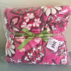 Vera Bradley BLUSH PINK Fleece Throw Blanket NEW in plastic NWT #VeraBradley #ThrowBlanket