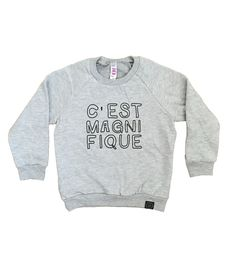 Our popular c'est magnifique tee goes cozy with this fleece pullover sweatshirt. Super comfortable and easy to style!Printed on American Apparel fleece (100�0cotton) pull over sweatshirt • Raglan sleeves • UnisexMachine wash cold, inside out on gentle cycle. Line dry or tumble dry low.We regret that this item does not come in infant sizes.