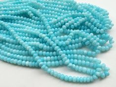 Peruvian Blue Opal Beads Natural Blue Opal Plain by gemsforjewels