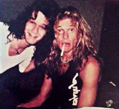 Eddie Van Halen and David Lee Roth Alex Van Halen, Eddie Van Halen, Sammy Hagar, David Lee Roth, Classic Rock And Roll, Glam Metal, I Like Him, Classic Songs, Rock N Roll Music
