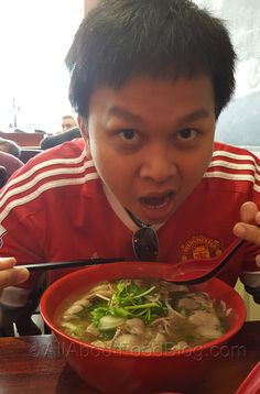 Gigantic Pho with Medium rare beef and combination from Pho PHD