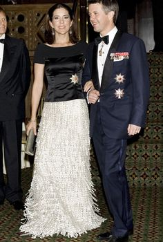 20 September 2007 - Attending Gala Dinner at Cipriani's, New York. Crown Princess Mary and Crown Prince Frederik of Denmark