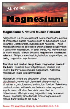 Back to Eden: Magnesium: A Natural Muscle Relaxant