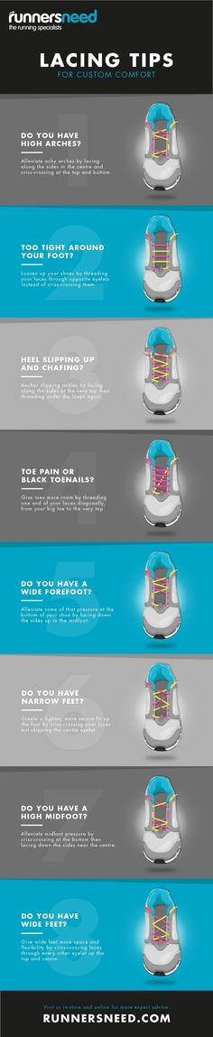 How to lace your running shoes for custom comfort #crosscountryrunning