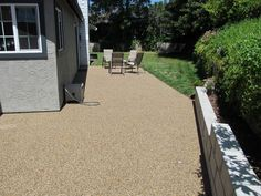 covered up an ugly old concrete patio with pebble epoxy looks amazing - Cover Concrete Patio Ideas