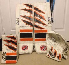 ORANGE AND BLACK  BEFORE PadSkinz was all white, AFTER PadSkinz pictured with ORANGE and BLACK added. Any questions? :)  More info here: www.padskinz.ca