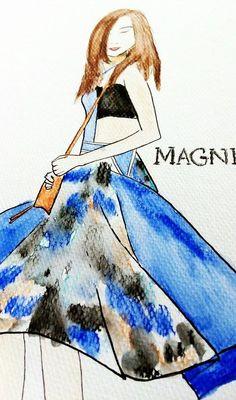 Tesa Jurjasevic form magnifiqueblog.com #bloggerdrawing #luciedraws