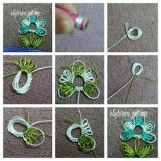 Reminds me of tatting lace. Crochet Unique, Crochet Lace Edging, Crochet Borders, Thread Crochet, Filet Crochet, Hand Embroidery Videos, Embroidery Fabric, Embroidery Stitches, Embroidery Patterns