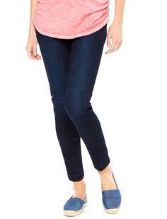 4af4f70d4e364 Motherhood Maternity Indigo Blue Secret Fit Belly Ankle Length Skinny Leg  Maternity Crop Jeans Maternity Skinny