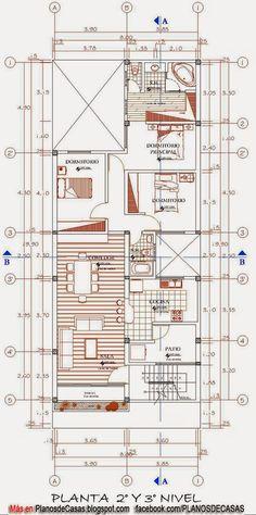 Planos de vivienda multifamiliar planos pinterest for Planos de casas 6x20