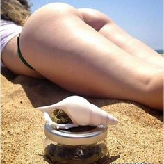 Missing summertime.   #stonergirl #420 #pipe #beach #stoner #cannabis #marijuana #summer #bum