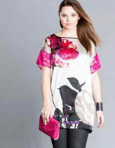 Silk floral print top by Idea Piu. Shop now: http://www.navabi.us/shirts-idea-piu-silk-floral-print-top-sand-pink-23929-8290.html?utm_source=pinterest&utm_medium=social-media&utm_campaign=pin-it