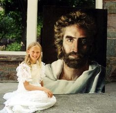 A painting of Jesus.  Created by Akiane when she was 8 years old. The picture the Little Boy that Went to Heaven saw.
