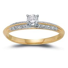 14k Yellow Gold Diamond Ring (1/2 cttw, I-J Color, I2 Clarity), Size 7 Amazon.com Collection. Save 39 Off!. $519.99. The total diamond carat weight listed is approximate. Variances may be up to .05 carats.. Can be resized up or down 2 sizes.