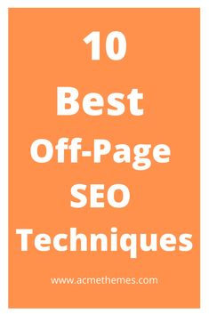 Here are the 10 most common off page seo techniques that allows website to boost ranking in the search engines. Best Off-Page SEO Techniques Seo Optimization, Search Engine Optimization, Seo Marketing, Digital Marketing, Marketing Ideas, Online Marketing, How Seo Works, Seo Professional, Seo Basics
