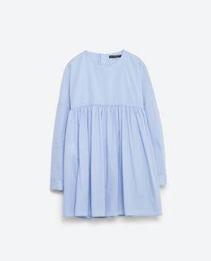 POPLIN JUMPSUIT DRESS-Mini-DRESSES-WOMAN | ZARA United States