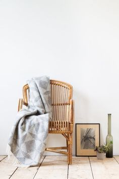 The styling of this photo is simple and wonderful.   (Pure Beauty: Undyed Wool in the Contemporary Home)