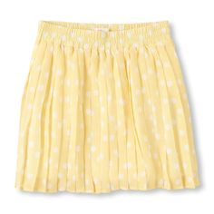 Polka dots decorate this fun pleated skirt for her!