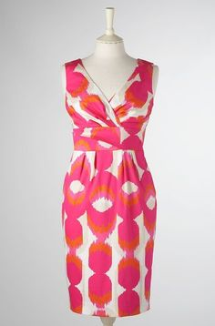 Pink and orange dress from Boden. Loving the pink/orange this season!