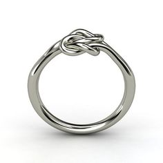 Lover's Knot Promise Ring - love the simplicity of this! - Honestly I'd be happy with my engagement ring looking like this