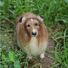 Custom Needle Felted Dog Portrait/Sculpture by FacciDesigns