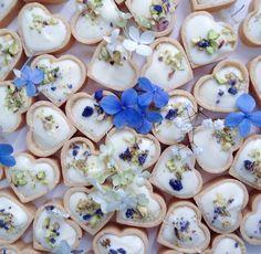 Edible Flowers Tart (Fancy Food Presentation Valentines)
