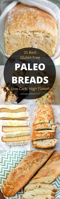 The best, most delicious PALEO Bread recipes. Easy crusty gluten free bread. Low carb almond flour paleo bread recipes. Homemade bread recipes. Quick gluten free bread that tastes better than real!!