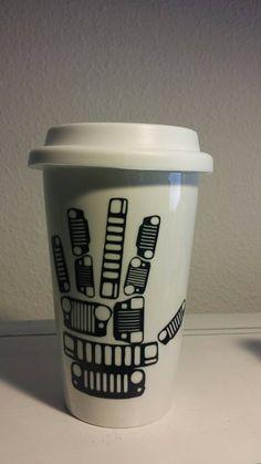 Jeep Wave Grills Mug by NerfherderCreations on Etsy https://www.etsy.com/listing/215644705/jeep-wave-grills-mug
