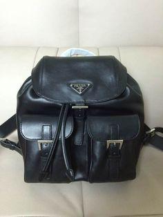 prada leather backpack purse