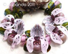 Orchidee Frauenschuh Vintage rosa