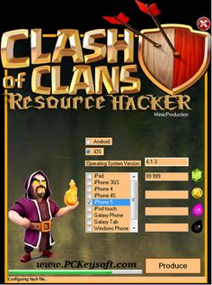 Today in this post PCkeysoft Team going to introduce amazing apk. Clash Of Clans Hack Tool No Survey No Password. You can use for hacking clash of clans. Coc Clash Of Clans, Clash Of Clans Cheat, Clash Of Clans Game, Clsh Of Clans, Clan Games, Hack Tool, Hack Hack, Clash Royale, Code Free