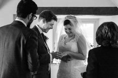 Exchanging the Rings.  Becky & Ben's Wedding.  October 2015.  Victoria Gray Photography, Scunthorpe.